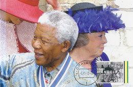 D35021 CARTE MAXIMUM CARD RR 2013 NETHERLANDS - POSTMARK >> DATE OF DEATH NELSON MANDELA - NOBEL PRIZE PEACE CP ORIGINAL - Nobel Prize Laureates
