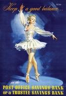 @@@ MAGNET - Post Office Savings Bank Keep A Good Balance, Ballerine - Advertising