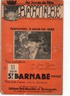 PARTITION MUSIQUE.FILM BARNABE.FERNANDEL.MANSE.DUMAS.BEUSCHER BOUSQUET. Achat Immédiat - Partitions Musicales Anciennes