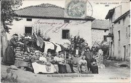 """43 - """" LE VELAY ILLUSTRE N° 287 """" - Un Groupe De Dentellières à LAUSSONNE - Bon état - Circulé - Cliché M.B. - France"""