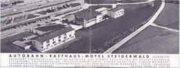 Visitekaartje - Carte Visite - Autobahn Rasthaus Motel Steigerwald - Weingartsgreuth - Cartes De Visite