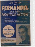 PARTITION MUSIQUE.FILM MONSIEUR HECTOR.FERNANDEL.MANSE.OBERFELD.ESCHIG  Achat Immédiat - Partitions Musicales Anciennes