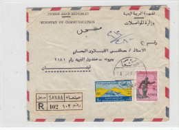Yemen YAR,commercial Registered Cover Sent 1966 To Beirut, Clear Cancellat. Verso Date- Fine Condition-SKRILL PAY ONLY - Yemen