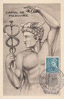 D35027 CARTE MAXIMUM CARD 1942 FRANCE - MERCURY CP ORIGINAL - Maximum Cards