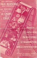 PARTITION MUSIQUE.FILM LE CHANT DE L'EXILE.BEUSCHER.PAQUITA.  Achat Immédiat - Partitions Musicales Anciennes