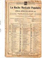 PARTITION MUSIQUE.RUCHE MUSICALE POPULAIRE.No 1271.SICILIENNE.  Achat Immédiat - Partitions Musicales Anciennes