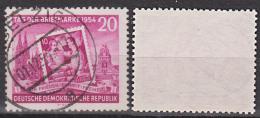 Leipzig Völkerschlachtdenkmal Und Kölner Dom, Tag Der Briefmarke 1954 DDR 445 Bedarfsgestempelt - [6] Oost-Duitsland