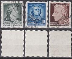 Friedrich Schiller (1759 - 1805) Dichter DDR 464/66 Gestempelt - [6] Repubblica Democratica