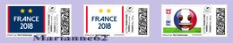 TimbrEnLigne France Wins World Cup 2018 Coupe Du Monde Football Russie - Soccer Fußball футбол Russia Piłka Nożna 3v MNH - Coupe Du Monde