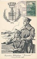 D35029 CARTE MAXIMUM CARD 1946 FRANCE - PRISONERS OF WAR POSTMARK STALAG CP ORIGINAL - Maximum Cards