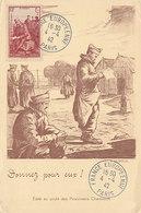D35030 CARTE MAXIMUM CARD 1942 FRANCE - PRISONERS OF WAR CP ORIGINAL - WW2