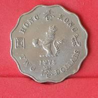HONG KONG 2 DOLLAR 1975 -    KM# 37 - (Nº25080) - Hong Kong