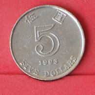 HONG KONG 5 DOLLAR 1993 -    KM# 65 - (Nº25083) - Hong Kong