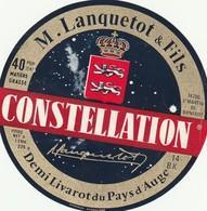 Rare  étiquette Fromage Demi Livarot Constellation De Lanquetot Et Fils  Format 9.5 Cm - Fromage
