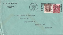 CANADA  1936 LETTRE DE TORONTO - 1911-1935 Règne De George V