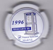COMMEMORATIVE FRANCE TELECOM MARNE 1996 - Champagne