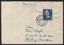 BRD - RFA -  BERLIN / 5-11-1955 MICHEL # 128 AUF BRIEF NACH FRANKREICH / KW 60.00 EURO (ref 5709) - Briefe U. Dokumente