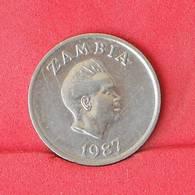 ZAMBIA 5 CENTS 1987 -    KM# 11 - (Nº25092) - Zambie