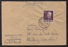 BRD - RFA -  BERLIN / 25-9-1953 MICHEL # 99 AUF BRIEF NACH FRANKREICH / KW 70.00 EURO (ref 6008) - Briefe U. Dokumente