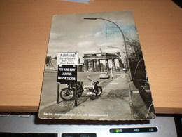 Berlin, 1957, Brandenburger Tor Mit Sektorenschild - Germany