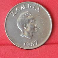 ZAMBIA 10 NGWEE 1987 -    KM# 12 - (Nº25094) - Zambie