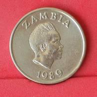 ZAMBIA 1 KWACHA 1989 -    KM# 26 - (Nº25097) - Zambie