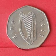 IRELAND 50 PENCE 1983 -    KM# 24 - (Nº25104) - Ireland