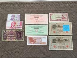 MONDE: Bon Lot De 10 Billets,1910/1993 - Coins & Banknotes
