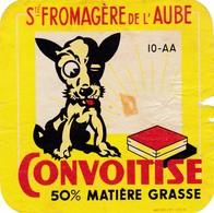 ETIQUETTE FROMAGE  TYPE CARRE DE L'EST -  CONVOITISE -   Fab En CHAMPAGNE  AUBE  10 - Cheese