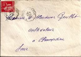 42 - LOIRE -  ST ETIENNE A BOEN -  1933 -   TàDde Type CCL2 - Marcophilie (Lettres)