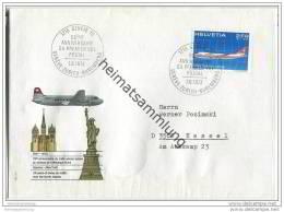 Brief Schweiz - 25 Years Of Swiss Air Traffic Over The North Atlantic - 1. Juni 1972 - Suisse