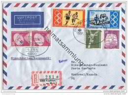 Brief Lufthansa LH 5448 - Flug Der Deutschen Olympiamannschaft Zu Den Olympischen Spielen In Montreal - [7] République Fédérale