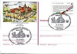 "BRD Amtliche GZS-Sonderpostkarte PSo 7 ""NAJUBRIA'83 In Rodenberg"" WSt ""Europamarke 1982"" 60(Pf),ESSt 25.3.1983 RODENBERG - BRD"