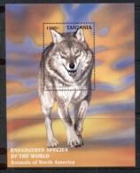 Tanzania 1997 Endangered Species , Grey Wolf MS MUH - Swaziland (1968-...)