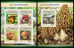 DJIBOUTI 2017 - Mushrooms - YT 1364-7 + BF149; CV=39 € - Pilze