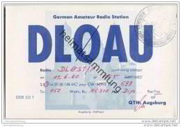QSL - Funkkarte - DL0AU - Augsburg - 1960 - Amateurfunk