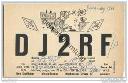 QSL - Funkkarte - DJ2RF - Idstein - 1960 - Amateurfunk