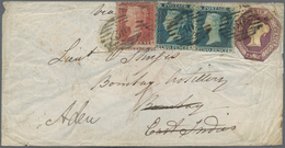 Aden: 1856 Cover From London To A Lieutnant Serving In The Bombay Artillery, Re-directed To Aden, Wi - Aden (1854-1963)