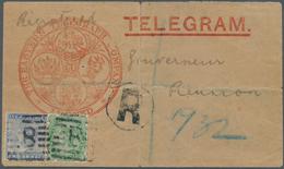 "Aden: 1893, Registered Telegram Envelope From ""Eastern Telegraph Company"" At ADEN To The Govenor Of - Aden (1854-1963)"