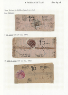 Afghanistan: 1880's: Six Native Covers (one Back Only) All Franked 1 Abasi (various Colors) Of 1881/ - Afghanistan