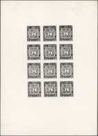 """Afghanistan: 1932: """"National Assembly"""", 6 Imperforated, Ungummed Sheets Of Proofs, Each Sheet With 1 - Afghanistan"""