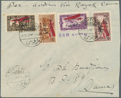 """Alawiten-Gebiet: 1926, Flight Cover """"TARTOUS - DAMASCUS"""", Dated 24/5/1926, Franked With Air Mail Set - Unused Stamps"""