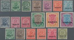 Bahrain: 1933-37 KGV. Set Plus 1934-37 Additions, Complete Except 1933 4a. (= 19 Stamps), Mint Light - Bahrain (1965-...)