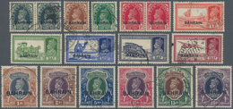 Bahrain: 1938-45 KGVI. Two Sets, Complete Except 1941 4a. Brown, Used And Cancelled By Various Types - Bahrain (1965-...)