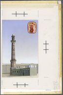 Bahrain: 1981. Bahrein. Artist's Drawing For The 150f Value Of The MOSQUES Series. Acrylic And Colla - Bahrain (1965-...)