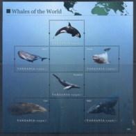 Tanzania 2011 Marine Life, Whales Of The World 1250/- MS MUH - Swaziland (1968-...)