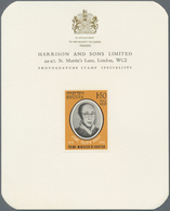 "Bhutan: 1964, Prime Minister ""JIGME PALDEN DORJI"", Not Realised Design, Set Of Three Harrsison Singl - Bhutan"
