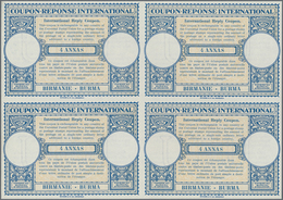 Birma / Burma / Myanmar: 1947/1958. Lot Of 2 Different Intl. Reply Coupons (London Type) Each In An - Myanmar (Burma 1948-...)