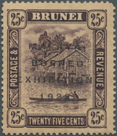 Brunei: 1922, Malaya-Borneo Exhibition 25c. Deep Dull Purple With REVERSED Watermark And Additional - Brunei (1984-...)