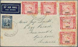 Brunei: 1946, SARAWAK & NORTH BORNEO USED IN BRUNEI: North Borneo Pictorial Definitive 10c. Eastern - Brunei (1984-...)